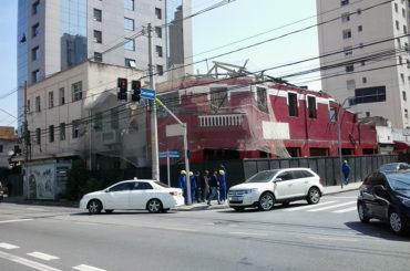 Imóveis demolidos – Av. Brigadeiro Luís Antônio com Rua Caconde