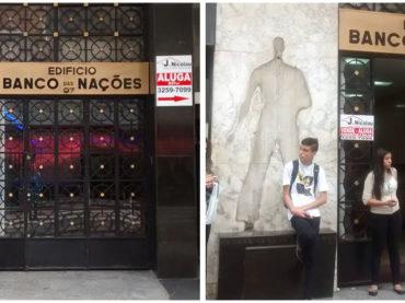 Escultura é roubada da fachada de edifício